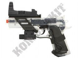 Colt Combat Commander Airsoft BB Gun Official Model 2 Tone Black Clear